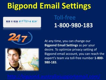 Bigpond Email Settings 1-800-980-183|  Synchronization issue