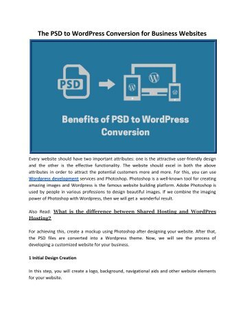 The PSD to WordPress Conversion for Business Websites_