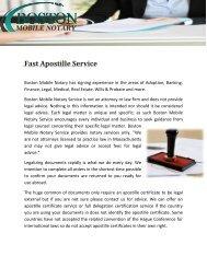 Fast Apostille Service