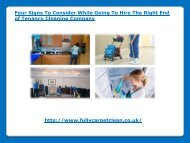 Hire The Right End of Tenancy Cleaning Company