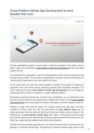Cross-Platform Mobile App Development is more feasible than ever