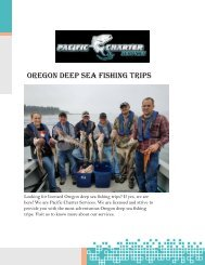 Best Coos Bay Fishing Charters at Pacificcharterservices.com