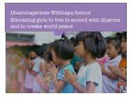 Help us expand Dhammajarinee school in Thailand