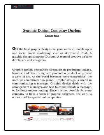 Most Outstanding Graphic Design Company in Durban