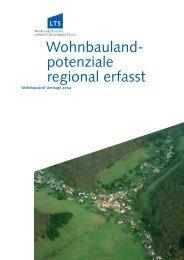 Wohnbaulandpotenziale regional erfasst 2004 - bei der NBank