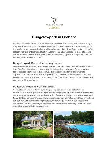 Bungalowpark in Brabant