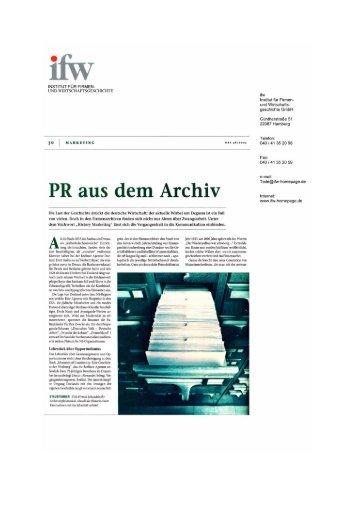 w&v Werben und Verkaufen 18/2003 - ifw Institut für Firmen