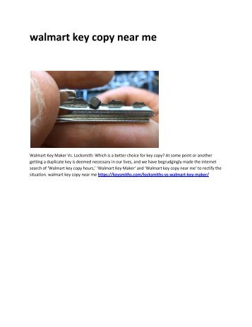 6 does Walmart make keys