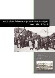 Heimatkundliche Beiträge der Nachbarschaften 1936-2017