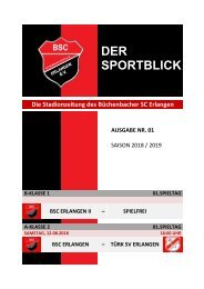 Der Sportblick (Ausgabe Nr. 01 | 18/19)