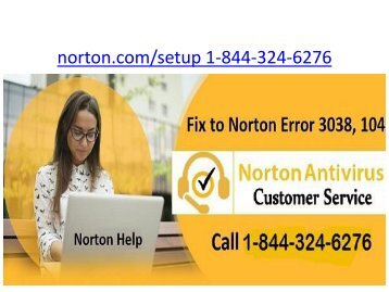 Norton My Account | 1 844-324-6276 | Norton Com Setup