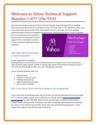 Contact Yahoo Mail Password Support Number 1-877-336-9533