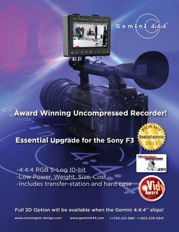 Award Winning Uncompressed Recorder! - Gecko-Cam