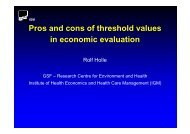 The Pros and Cons  of Threshold Values in