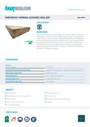 EARTHWOOL® INTERNAL (ACOUSTIC) WALL BATT