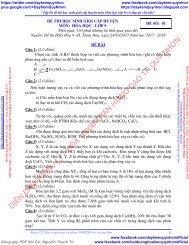 Tập 20 đề thi học sinh giỏi cấp huyện môn Hóa học lớp 9 (có đáp án chi tiết)