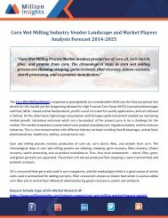 Corn Wet Milling Industry Vendor Landscape and Market Players Analysis Forecast 2014-2025