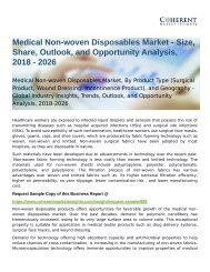 Medical Non-woven Disposables Market Opportunity Analysis, 2018-2026