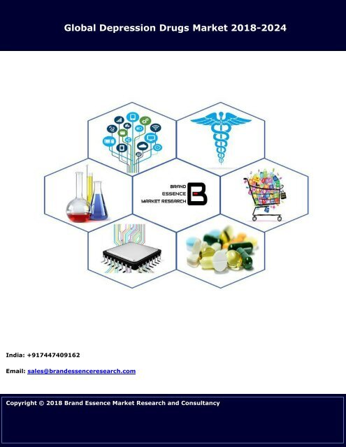 Depression Drugs Market Size, Share & Trends   Industry Analysis 2018-2024