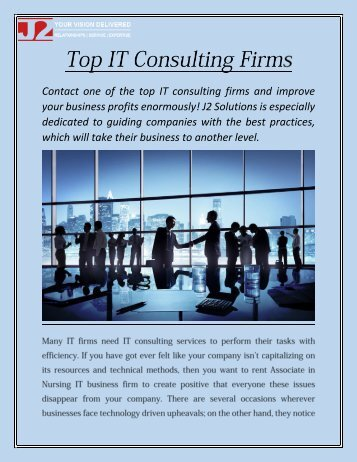 Top IT Consulting Firms - j2-solutions