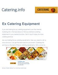 Best Catering Services at Catering.info