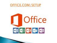 Office.com/Setup- How to setup office- install your ms office