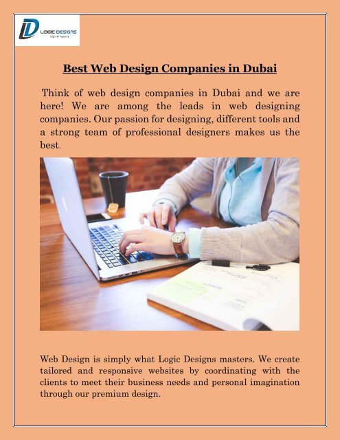 Best Web Design Companies In Dubai