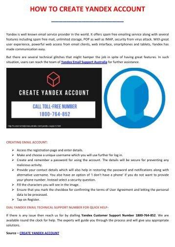 How to create Yandex account?