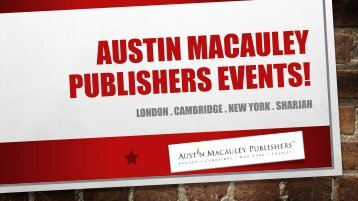Austin Macauley Book Publishers Events