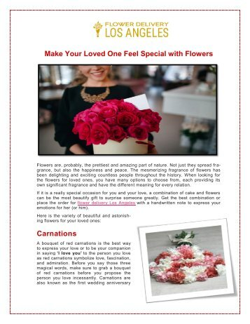 Make Your Loved One Feel Special with Flowers