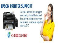 Epson Inkjet Printer Number 1-8882110387 for Tech Support Help