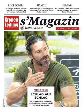s'Magazin usm Ländle, 12. August 2018