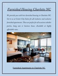 Furnished Housing Charlotte NC - Center City Suites