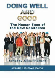 #PDF~ Doing Well and Good: The Human Face of the New Capitalism (Ethics in Practice) Free