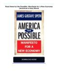 Read America the Possible: Manifesto for a New Economy (American Crisis) Ebook - Page 2
