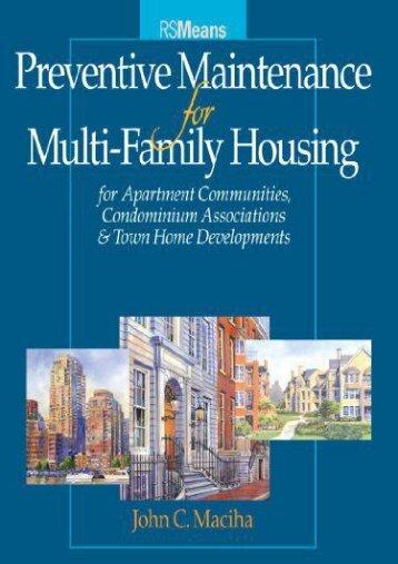 [Doc] Preventive Maintenance for Multi-Family Housing (RSMeans) FUll