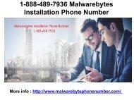1-888-489-7936 Malwarebytes Installation Phone Number