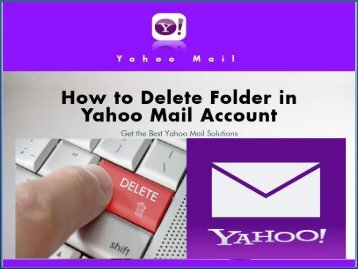 How to Delete Yahoo Mail Folder