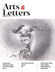 Arts & Letters, August 2018