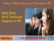 Dial Toll Free Yahoo Support Help Number UK @ +44 (0) 808-169-8368