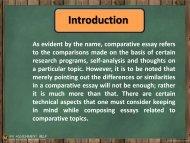 Interesting Comparative Essay Topics
