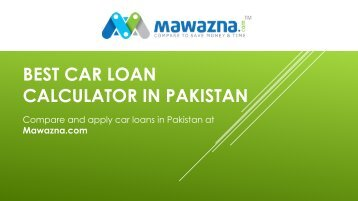 best car loan calculator Pakistan