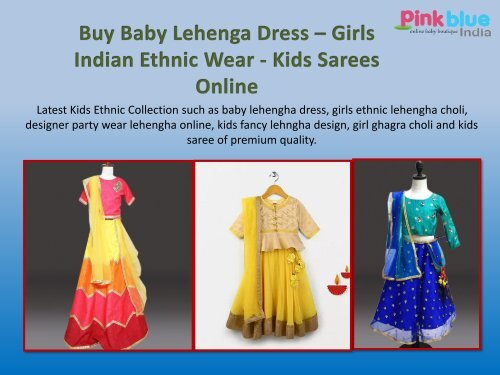 Kids Lehenga Online Indian Ethnic Wear Lehenga Choli Designs For Girls