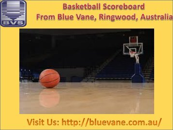 Buy Basketball Scoreboard at affordable price from Blue Vane, Australia