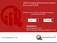 Edible Packaging Market Research Report - Global Forecast to 2023
