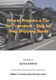 Step by Step Shipping Guide | Auto Kenya