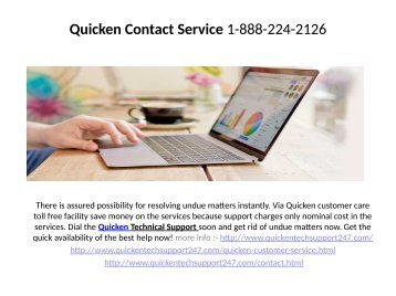 Quicken Technical Support Phone Number   1-888-224-2126