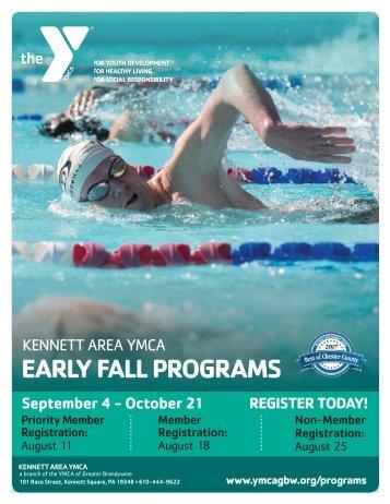 Kennett Area YMCA - Early Fall Program Guide 2018