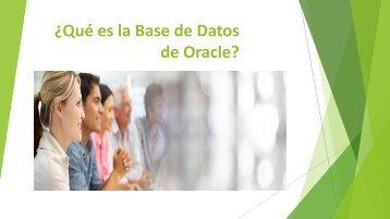 ¿Qué es la Base de Datos de Oracle?