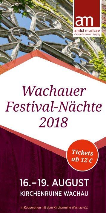 Wachauer Festivalnächte 2018 | Programm